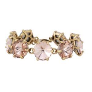 S & D Amelie Peach/Gold Rhinestone Bracelet